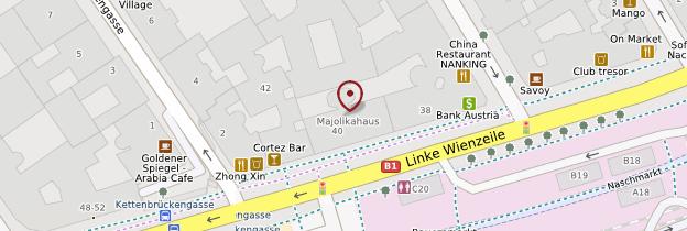 Carte Maison aux Médaillons (40 Linke Wienzeile) - Vienne