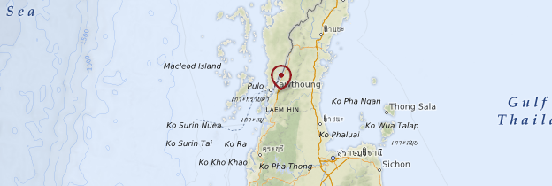 Carte Ranong - Thaïlande