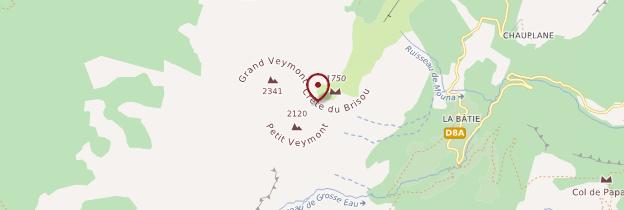 Carte Grand Veymont - Alpes