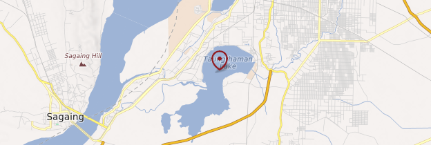 Carte Lac Taungthaman - Birmanie