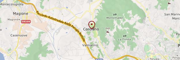 Carte Corciano - Italie