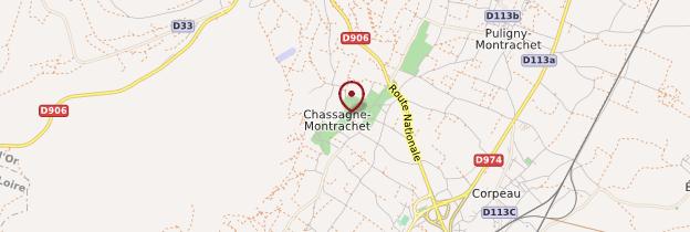 Carte Chassagne-Montrachet - Bourgogne