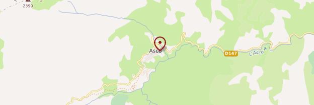 Carte Asco - Corse