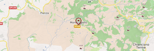 Carte Monticchiello - Toscane