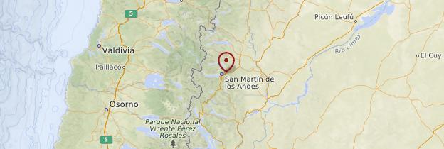 Carte San Martín de los Andes - Patagonie