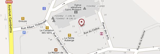 Carte Abbaye Saint-Philibert - Bourgogne