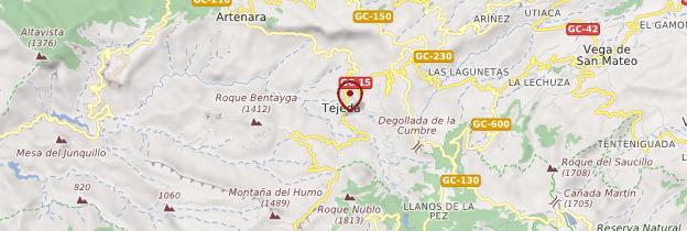 Carte El Roque Nublo - Canaries
