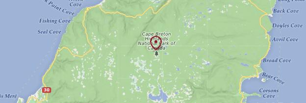 Carte Cap Breton Highlands National Park - Canada