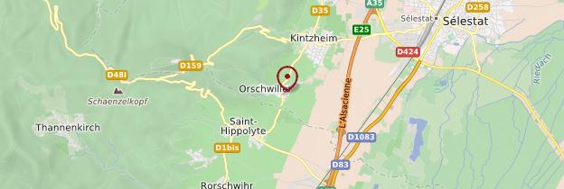 Carte Orschwiller - Alsace