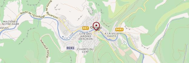 Carte Ornans - Franche-Comté