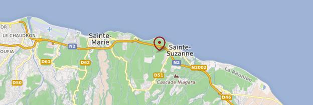 Carte Cascade Niagara - Réunion