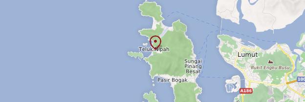 Carte Teluk Nipah - Malaisie