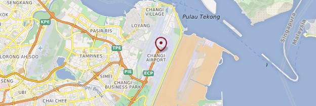 Carte Aéroport international de Changi - Singapour