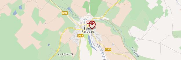 Carte Saint-Fargeau - Bourgogne