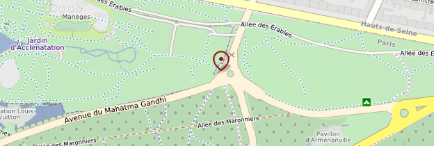 Carte Jardin d'acclimatation - Paris