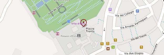 Carte Villa d'Este - Rome
