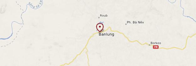 Carte Banlung - Cambodge
