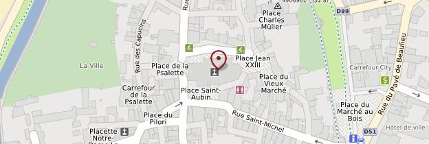 Carte Collégiale Saint-Aubin - Pays de la Loire