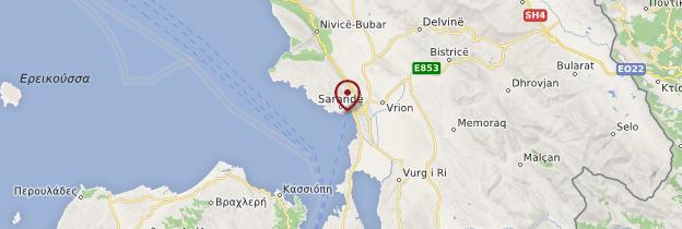 Carte Saranda - Albanie