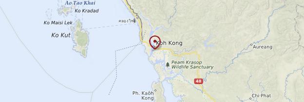 Carte Koh Kong - Cambodge