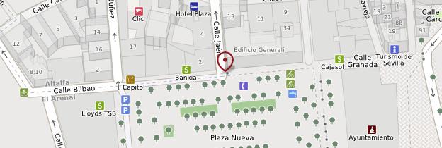 Carte Plaza Nueva - Séville
