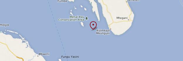 Carte Menai Bay - Zanzibar
