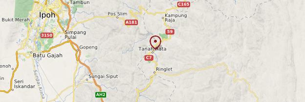 Carte Tanah Rata - Malaisie