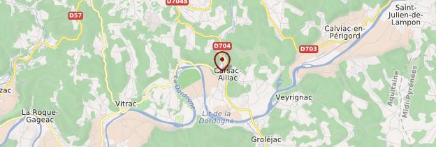 Carte Carsac-Aillac - Périgord - Dordogne