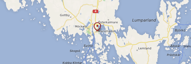 Carte Mariehamn (Maarianhamina) - Finlande