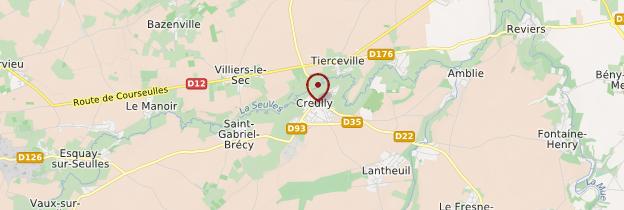 Carte Creully - Normandie