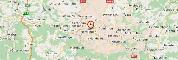 Carte Nördlingen - Allemagne