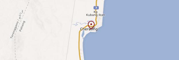Carte Cherating - Malaisie