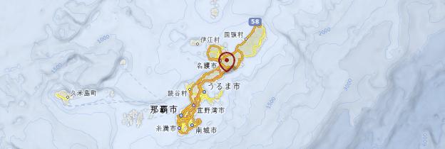 Carte Îles Ryūkyū - Japon