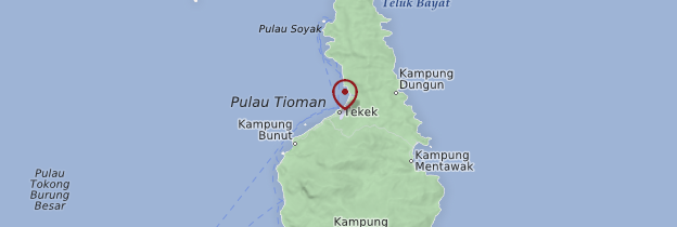 Carte Kampong Tekek - Malaisie