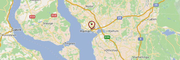 Carte Hamar - Norvège