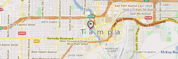 Carte Tampa - Floride
