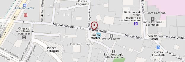 Carte Piazza Mattei - Rome
