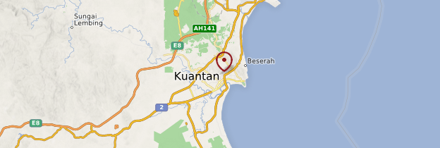 Carte Kuantan - Malaisie
