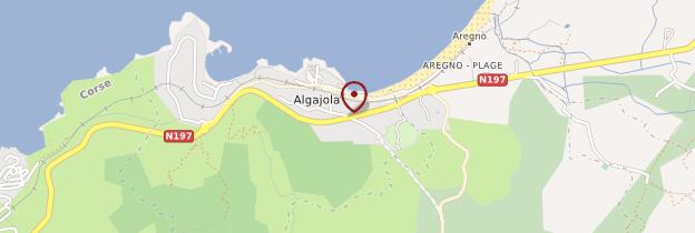 Carte Algajola - Corse