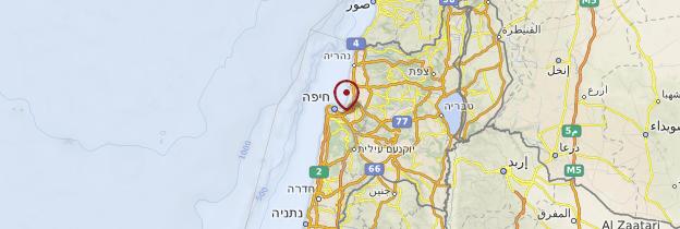 Carte Haïfa - Israël, Palestine