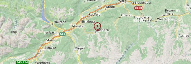 Carte Alpbach - Autriche
