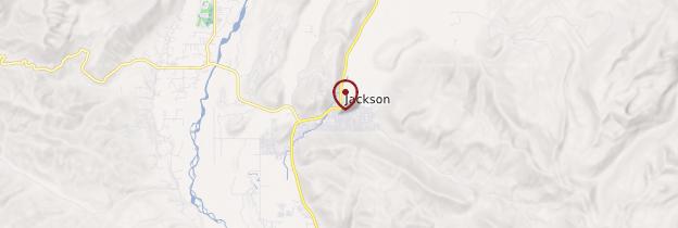 Carte Jackson - Parcs nationaux de l'Ouest américain