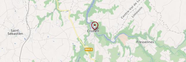 Carte Crozant - Limousin
