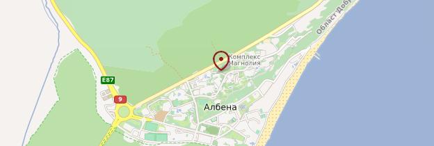 Carte Albena - Bulgarie