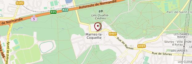 Carte Marnes-la-Coquette - Île-de-France