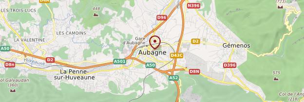 Carte Aubagne - Provence