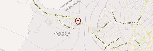 Carte Monastère Ipatiev - Russie