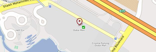 Carte Dubai Mall - Dubaï