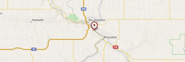 Carte Drumheller - Canada