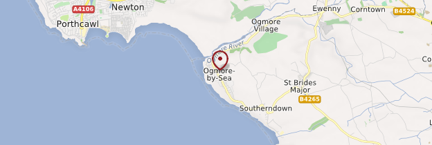 Carte Ogmore - Pays de Galles